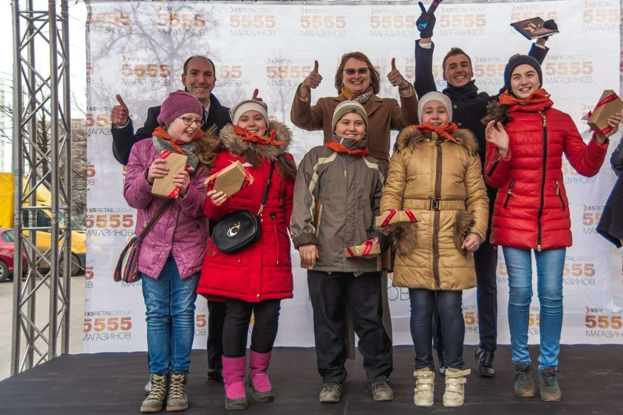 Открытие 5555 магазина «Пятёрочка» в Люберцах
